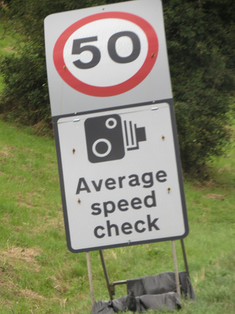 mph: Average speed check traffic signal 50 mph