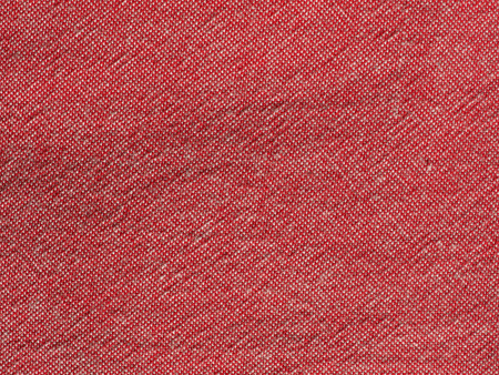 Red Cotton Fabric Texture Useful As A Background Stock Photo