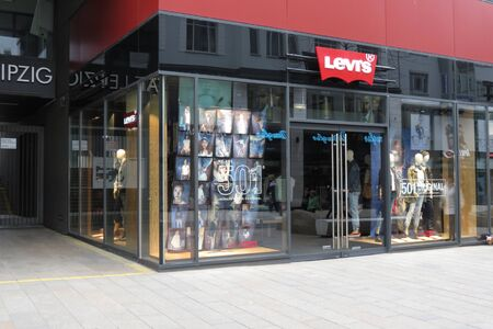 levis: LEIPZIG, GERMANY - CIRCA MARCH 2016: Levis brand store