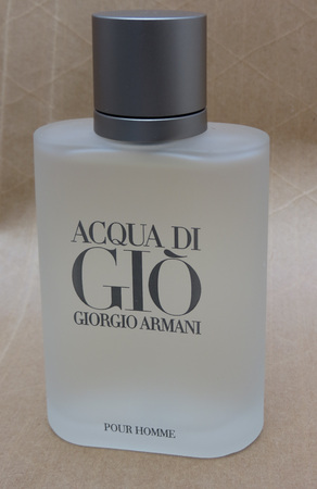 eau de perfume: MILAN, ITALY - CIRCA MARCH 2014: Giorgio Armani, Acqua di Gio fragrance for men is one of the evergreen bestselling perfumes worldwide