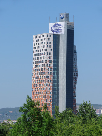moravia: BRNO, CZECH REPUBLIC - CIRCA MAY 2017: AZ tower, currently the tallest building in the Czech Republic (111 m or 364 ft)