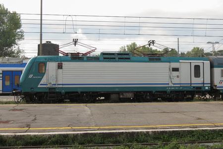 CASSINO, ITALY - CIRCA OCTOBER 2015: FS E 464 Locomotive Editorial