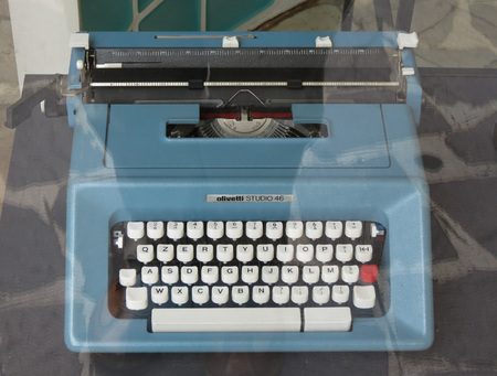 IVREA, TURIN, ITALY - CIRCA JULY 2014: Olivetti Studio 46 typewriter dating back to the late 1970s