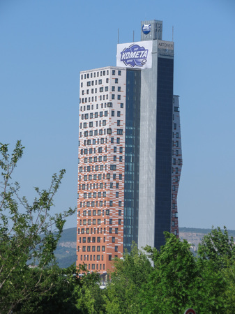 ceska: BRNO, CZECH REPUBLIC - CIRCA MAY 2017: AZ tower, currently the tallest building in the Czech Republic (111 m or 364 ft)