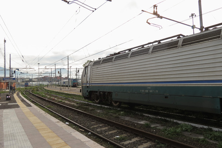 CASSINO, ITALY - CIRCA OCTOBER 2015: FS E 402 b Locomotive