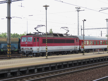 OSTRAVA, CZECH REPUBLIC - CIRCA JULY 2017: Czech Railways (CD) Class 162 electric loco