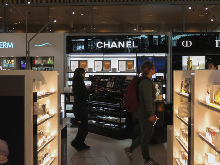 OSLO, NORWAY - CIRCA AUGUST 2017: Chanel perfumes for sale