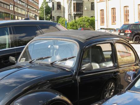 GOTEBURG, SWEDEN - CIRCA AUGUST 2017: black Volkswagen Beetle car Editorial