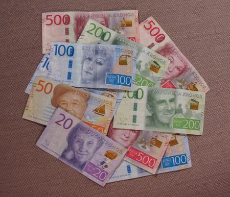 Swedish Krona banknotes money (SEK), currency of Sweden Stock Photo
