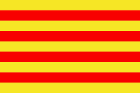 the Catalan national flag of Catalonia - isolated vector illustration
