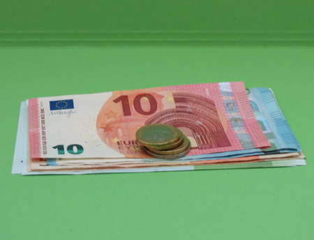 Euro bankbiljetten en munten (EUR), valuta van de Europese Unie