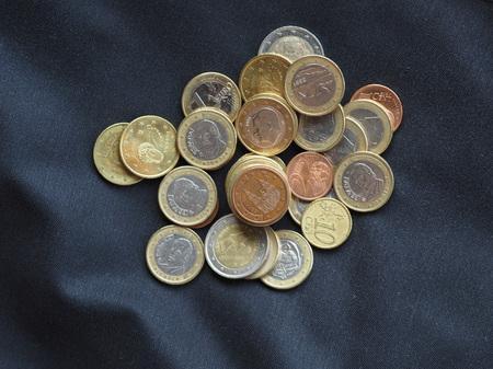 Euro coins money (EUR), currency of European Union Stock Photo