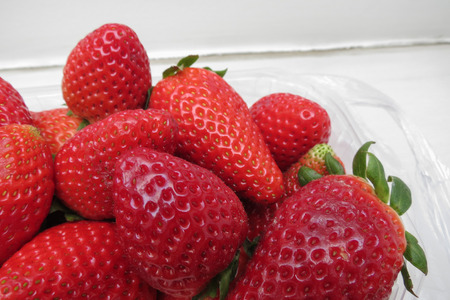 Strawberry (Fragaria x ananassa) fruit vegetarian food