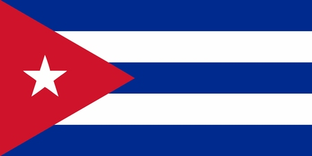 Cuba flag icon - isolated vector illustration