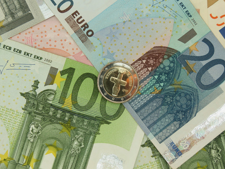 Euro (EUR) banknotes and coins from Cyprus