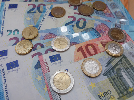 Euro (EUR) banknotes - legal tender of the European Union 版權商用圖片 - 111369224