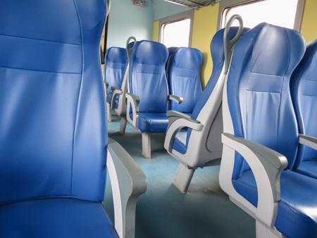 VERONA, ITALY - CIRCA MARCH 2013: Trenitalia railways passenger coach interiors