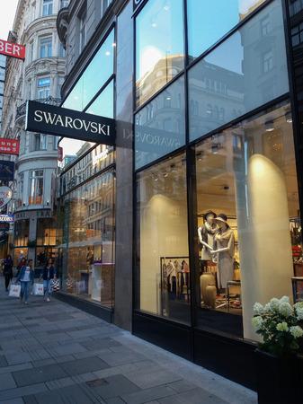 VIENNA, AUSTRIA - CIRCA SEPTEMBER 2018: store front of Swarovski brand store Editorial