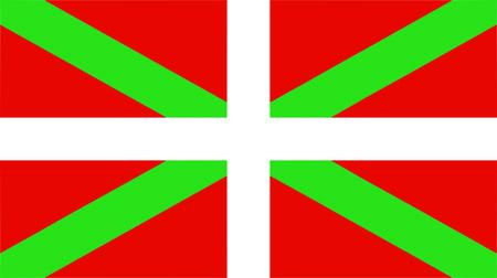 the Basque national flag of Basque Country (Euskera) - isolated illustration Illustration