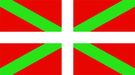 the Basque national flag of Basque Country (Euskera) - isolated illustration Vectores
