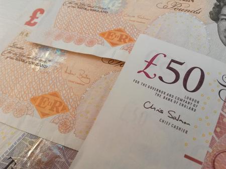 LONDON, UK - CIRCA JULY 2015: British Sterling Pound notes