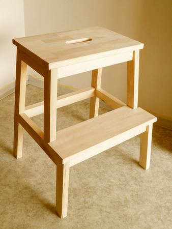 a beech wood board traditional step stool