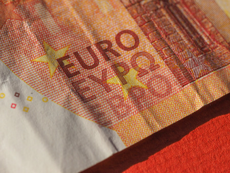 10 euro note money (EUR), currency of European Union - close up