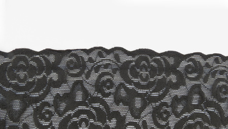 black floral lace band texture useful as a background