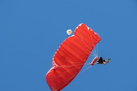 COIMBRA, PORTUGAL - CIRCA JUNE 2015: parachuting near the city centre Editorial