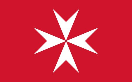 the Maltese civil ensign of Malta, Europe - isolated vector illustration