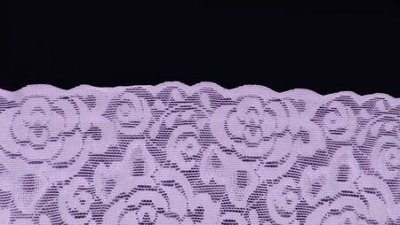 lilac floral lace band texture useful as a background