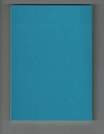 book with a cobalt blue paper cover