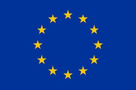 European Union flag - isolated vector illustration Stock Illustratie