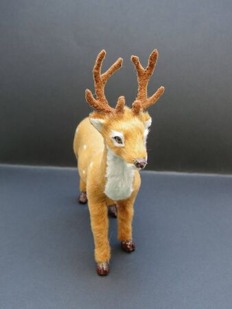 roe deer (Capreolus capreolus) animal of phylum Chordata, class Mammalia (mammals) - miniature reproduction useful as Christmas decoration or child toy Stockfoto