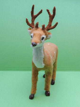 roe deer (Capreolus capreolus) animal of phylum Chordata, class Mammalia (mammals) - miniature reproduction useful as Christmas decoration or child toy 免版税图像