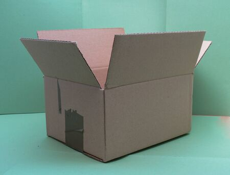 corrugated cardboard box for small packet parcel 免版税图像