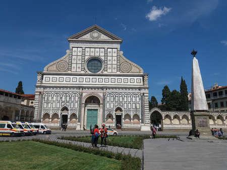 FLORENCE, ITALY - CIRCA APRIL 2019: Santa Maria Novella church and square Editorial