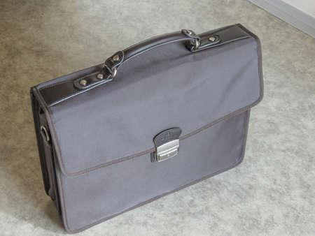 PARIS, FRANCE - CIRCA JUNE 2020: brown Hexagona briefcase