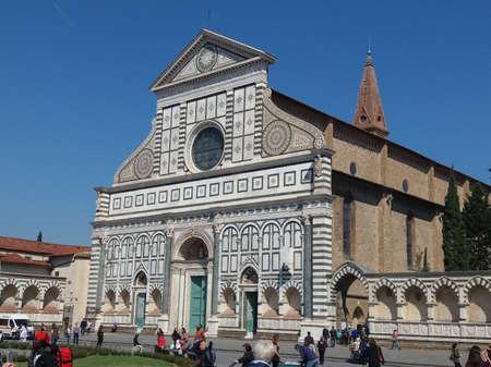 FLORENCE, ITALY - CIRCA APRIL 2019: Santa Maria Novella church and square