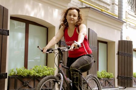 girl on bike Stock Photo - 1366425