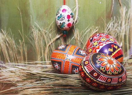 Easter Eggs  composition - pysanky