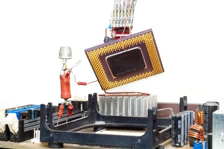 computer repair or processor upgrade Stock Photo - 2711971