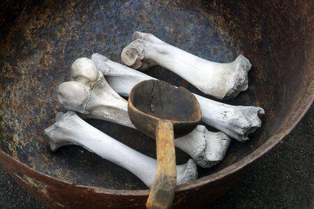 soup kettle: ogre cauldron