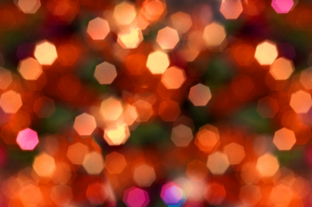 Christmas atmosphere,a lights background deliberately out of focus  Stock Photo