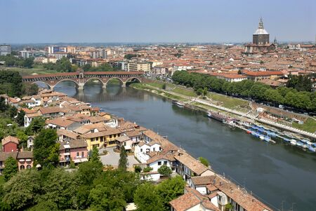 aerial photography of Pavia,Lombardia Italy