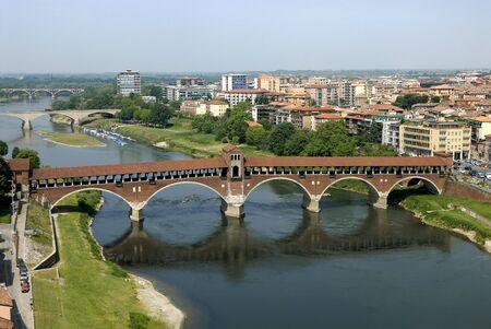 aerial photography of Pavia,Lombardia Italy