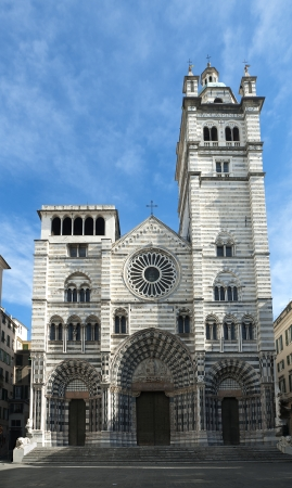 Italy,Ligurian, Genoa, the romanic cathedral of Genoa