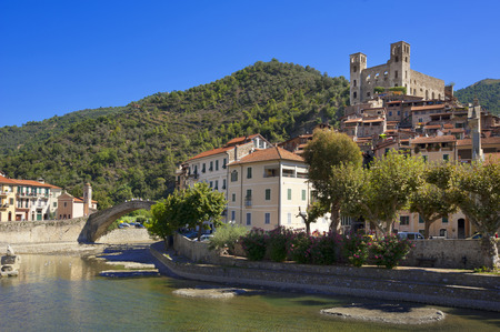 the beautiful small town of Dolceacqua, near Sanremo, Liguria, Italy during summer