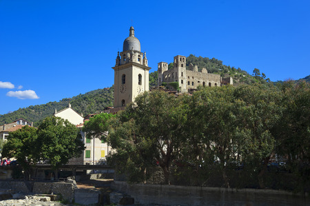 sanremo: the beautiful small town of Dolceacqua, near Sanremo, Liguria, Italy during summer