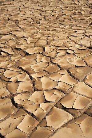 a close up of brown, dryness and arid ground Stock Photo